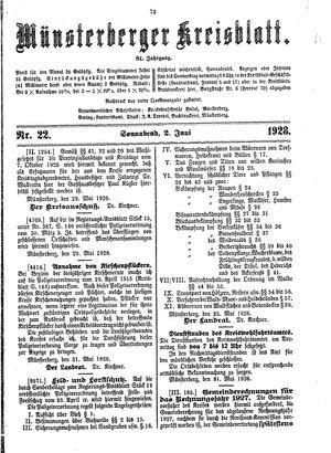 Münsterberger Kreisblatt vom 02.06.1928