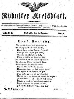 Rybniker Kreisblatt vom 06.01.1844