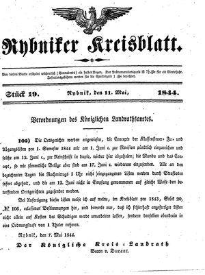Rybniker Kreisblatt on May 11, 1844