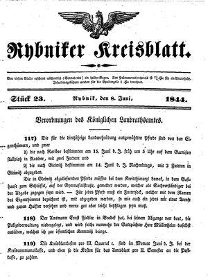 Rybniker Kreisblatt vom 08.06.1844