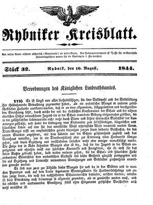 Rybniker Kreisblatt on Aug 10, 1844
