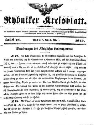 Rybniker Kreisblatt vom 03.05.1845