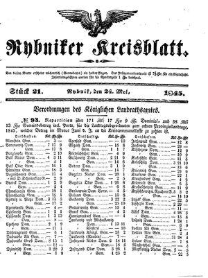 Rybniker Kreisblatt vom 24.05.1845