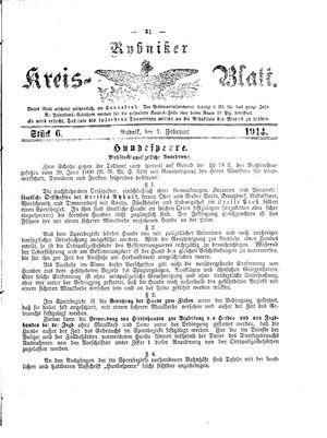 Rybniker Kreisblatt vom 07.02.1914