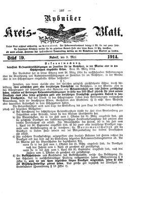 Rybniker Kreisblatt vom 09.05.1914