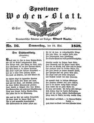 Sprottauer Wochenblatt vom 23.05.1839