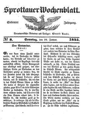 Sprottauer Wochenblatt on Jan 26, 1845