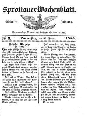 Sprottauer Wochenblatt vom 30.01.1845