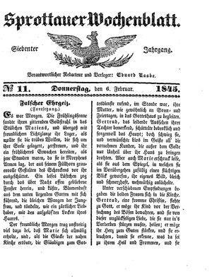 Sprottauer Wochenblatt vom 06.02.1845