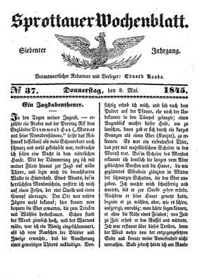 Sprottauer Wochenblatt vom 08.05.1845