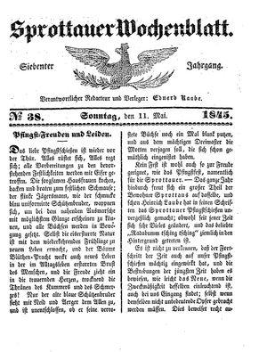 Sprottauer Wochenblatt vom 11.05.1845