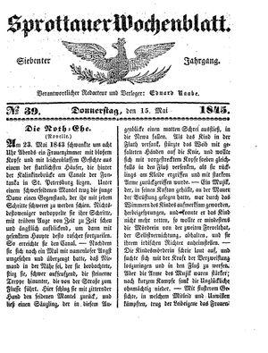 Sprottauer Wochenblatt vom 15.05.1845