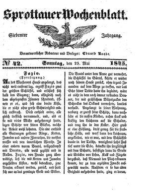 Sprottauer Wochenblatt vom 25.05.1845
