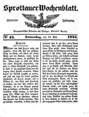 Sprottauer Wochenblatt vom 29.05.1845