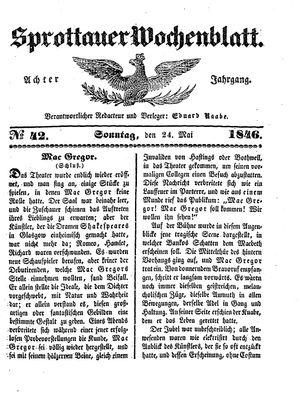 Sprottauer Wochenblatt vom 24.05.1846