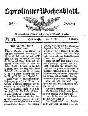 Sprottauer Wochenblatt vom 09.07.1846