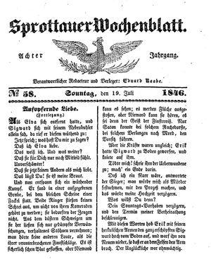 Sprottauer Wochenblatt vom 19.07.1846