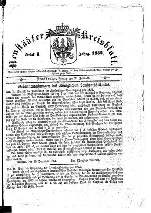 Neustädter Kreisblatt vom 02.01.1852