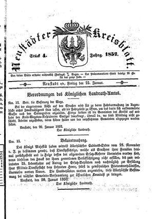 Neustädter Kreisblatt vom 23.01.1852