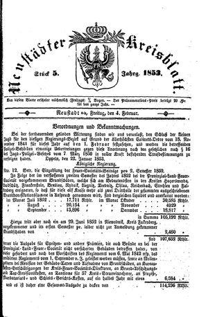 Neustädter Kreisblatt vom 04.02.1853