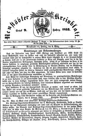 Neustädter Kreisblatt vom 04.03.1853