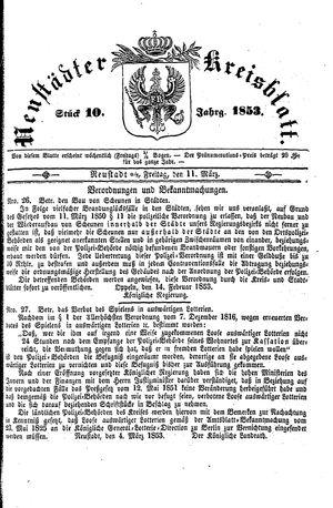 Neustädter Kreisblatt on Mar 11, 1853
