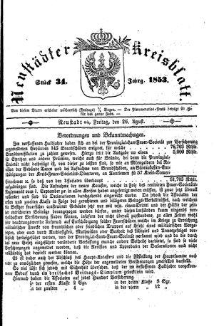 Neustädter Kreisblatt on Aug 26, 1853
