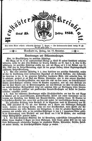 Neustädter Kreisblatt on Nov 11, 1853