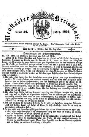 Neustädter Kreisblatt on Dec 30, 1853