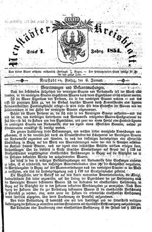 Neustädter Kreisblatt vom 06.01.1854