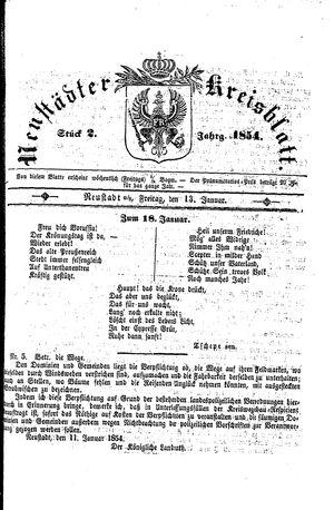 Neustädter Kreisblatt on Jan 13, 1854