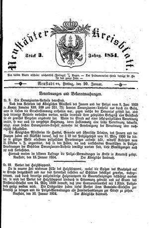 Neustädter Kreisblatt vom 20.01.1854