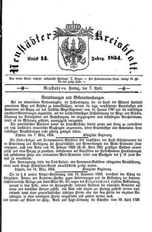 Neustädter Kreisblatt on Apr 7, 1854