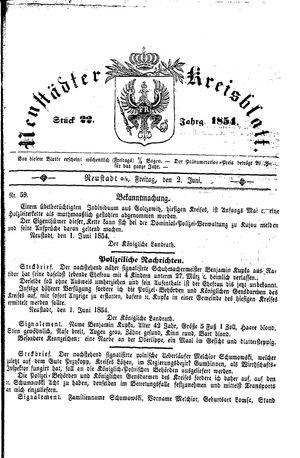 Neustädter Kreisblatt on Jun 2, 1854