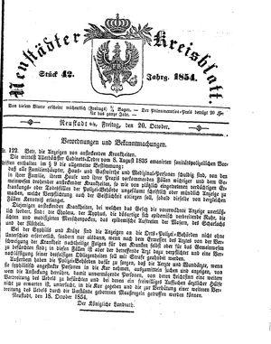 Neustädter Kreisblatt vom 20.10.1854