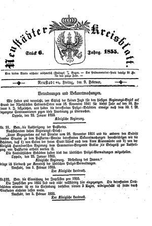 Neustädter Kreisblatt vom 09.02.1855
