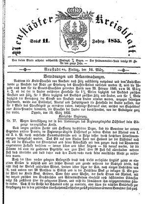 Neustädter Kreisblatt on Mar 16, 1855