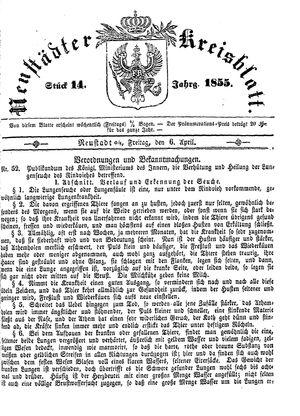 Neustädter Kreisblatt vom 06.04.1855