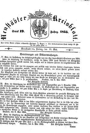 Neustädter Kreisblatt on May 11, 1855