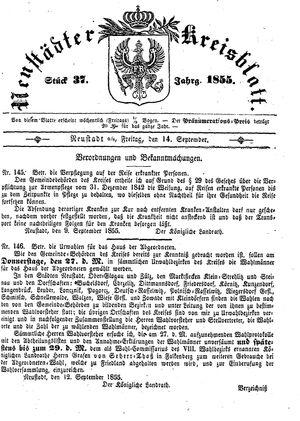 Neustädter Kreisblatt vom 14.09.1855