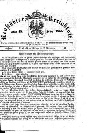 Neustädter Kreisblatt vom 09.11.1855