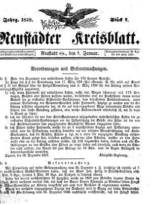 Neustädter Kreisblatt vom 09.01.1858