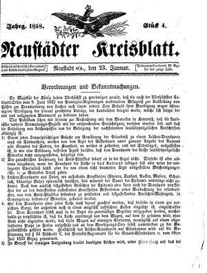 Neustädter Kreisblatt on Jan 23, 1858