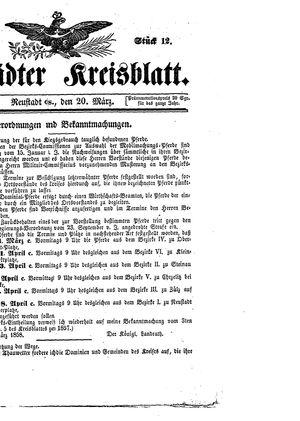Neustädter Kreisblatt vom 20.03.1858