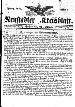 Neustädter Kreisblatt vom 01.01.1859