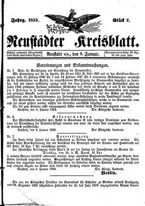 Neustädter Kreisblatt on Jan 8, 1859