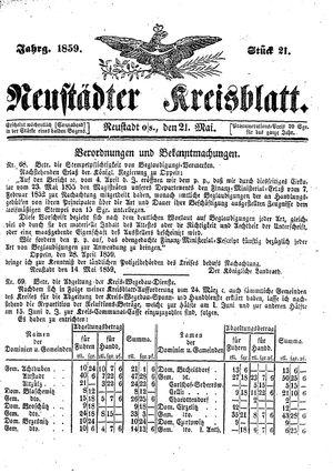 Neustädter Kreisblatt vom 21.05.1859