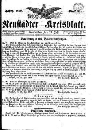 Neustädter Kreisblatt on Jul 23, 1859