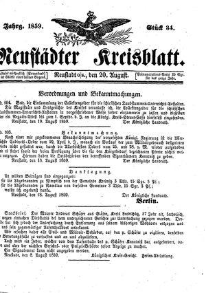 Neustädter Kreisblatt vom 20.08.1859