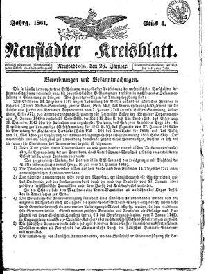 Neustädter Kreisblatt on Jan 26, 1861